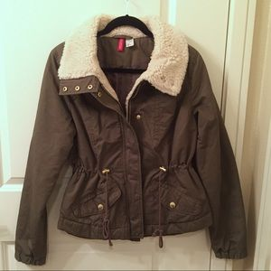 Army Jacket with Fur Detail